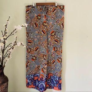 LOFT Wide Leg Floral Pant Size XL